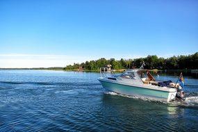 Summer, Boat, Sea, Landscape, Horizon