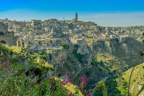Matera Italy Atmosphere Scenery View Mater
