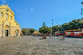 Messina Square Sicily Italy Italian Bus Ch