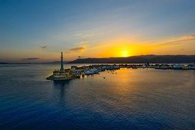 Messina Sicily Port Harbor Sunset Sunrise