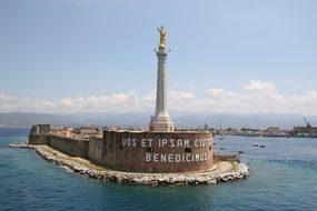 Messina, Monument, Sea, Sicily, Italy