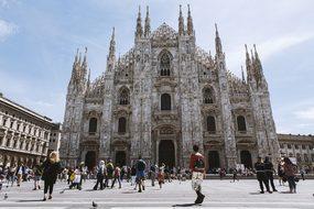 Europe, Italy, Milan, Church, Square