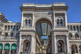 Galleria Vittorio Emanuele Milan Duomo Di