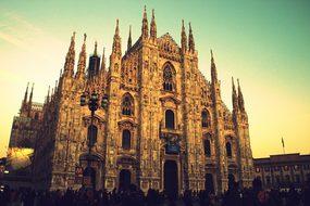 Milan Duomo Monument Italy Architecture Do