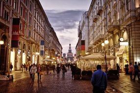 City Centre Street Milan Italy Milan Milan