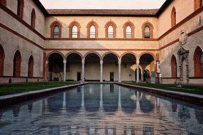 Sforzesco Castle Milan Italy Milan Milan M