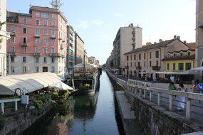 Boathouse, Navigli, Milan, Water, Center