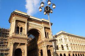 Italy Milan Arcade Piazza Vittorio Emanuel