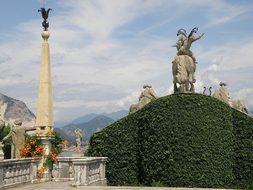 Milan Italy Palazzo Borromeo Statues Monum