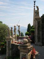 Milan, Italy, Palazzo Borromeo, Statues