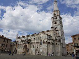 Modena, Duomo, Piazza, Clouds, Sky
