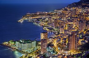 Monaco, Monte Carlo, France, Evening