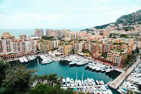 Port Monaco Luxury Mediterranean City Euro