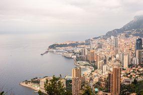 Monaco City Sea Panorama Coast Port Medite