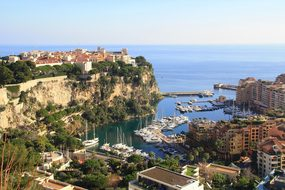 Monaco Sea Sun Port France Rock Landscape