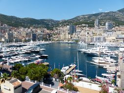Monaco Port City View Principality Of Mona