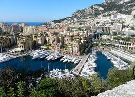 Monaco Bay Porto Boats Mar Summer Blue Sky