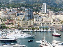 City Skyscrapers Hafe Ships Yachts Marina