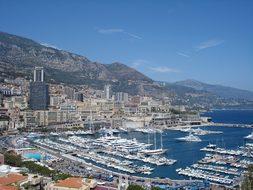 Monte Carlo Cityscape Harbor Ships Port Bu