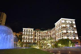 Monaco Monte Carlo Hotel Night Architectur