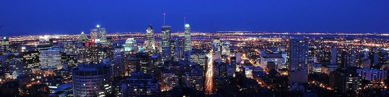 Montreal Skyline City Canada Cityscape Pan