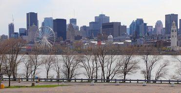 Panoramic, City, Skyline, Architecture