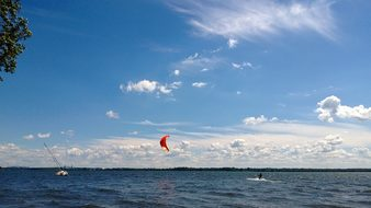 Lake Nature Clouds Canada Water Glider Tre