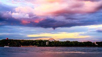 Water, Nature, Sunset, Sky, Panoramic