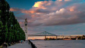 Bridge, Water, Travel, Sunset, Sky