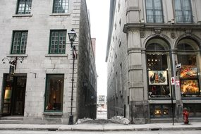 Alley Path City Downtown Montreal Quebec C
