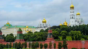 Kremlin, Moscow, Russia, Cathedrals