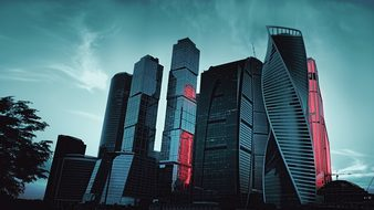 Moscow City 2017 Russia Megalopolis Skyscr