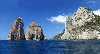 Faraglioni, Rock, Capri, Italy, Panorama