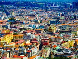 Naples Italy City Urban Colorful Architect