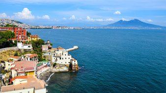 Italy, Naples, Beach, Water, Sea