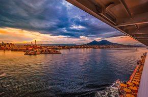 Volcano Cruise Port Harbor Sea Naples Vesu