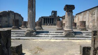 Pompeii Ruins Volcano Italy Vesuvius Ancie