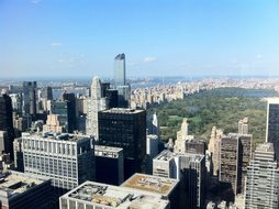 Overlooking Central Park New York America