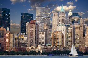 New York Skyline Manhattan Hudson Skyscrap