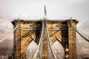 Bridge Brooklyn Bridge New York Usa Nyc Am