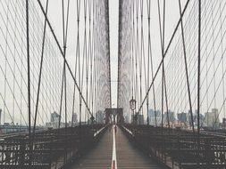 Brooklyn Bridge Nyc New York Usa America F