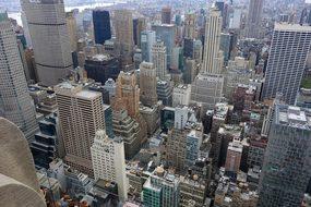 New York, Street Canyon, View