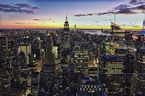 New York Manhattan Buildings Urban Nyc Ny
