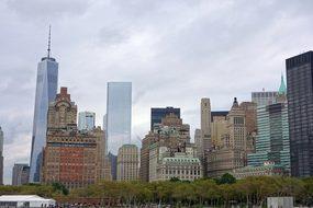 New York, Skyline, Ferry, Staten Iceland
