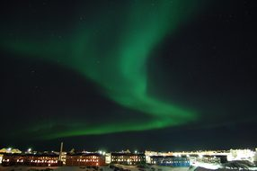 The Northern Lights Night Nuuk Green House