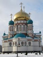 Church, Omsk, Russia, Onion Dome