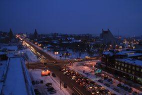 Omsk, Winter, Road, Cold, Siberia