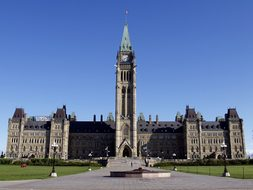 Parliament Peace Tower Ottawa Canada Build