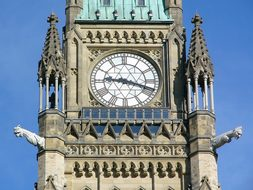 Parliament Hill Clock Tower Ottawa Canada