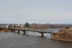 Bridge Ottawa River Main City Canada Ottaw